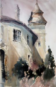 Castle Bernstein II, watercolor, 56x38 cm