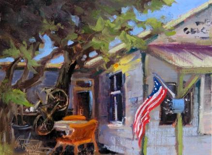 Post Office El Jobean oilon panel 9x12 inches