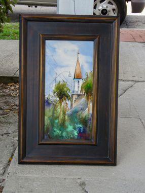 framed the new steeple