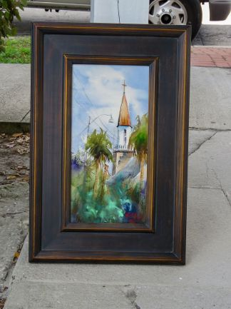 framed the new steeple