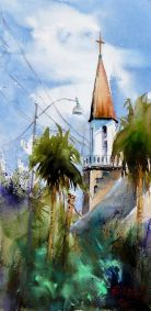 the new steeple, second painting