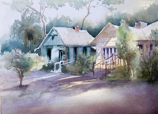 History Park, watercolor, 15x11 inches